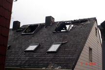 Das ausgebrannte Haus am nächsten Morgen. Foto: FF Helgoland